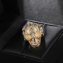 Best promotioanal giveaways punk style fashion metal skull ring for wholesale