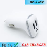 promotional 12v car battery usb cell phone car charger with Type-C