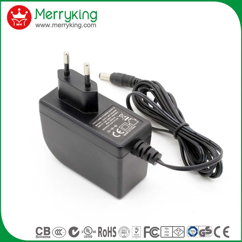 Shenzhen electronics factory 24 volt 1 amp power supply 24v ac dc adapter