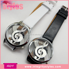 New Design Selling Novelty Music Printed Style Hollow Ladies Watches