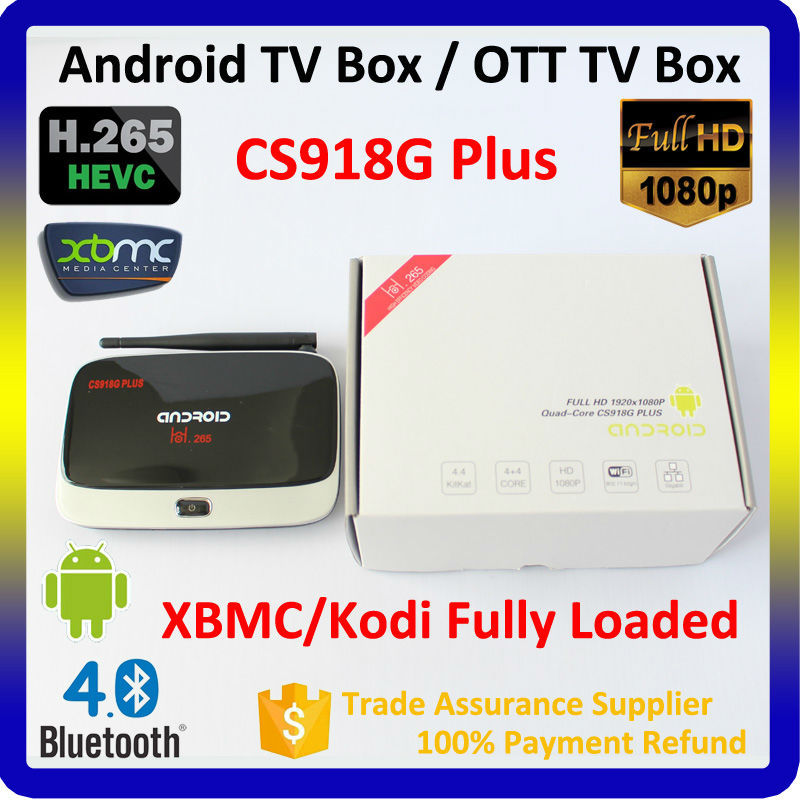 Factory Top Selling Quad Core TV Box RK3188 2gb 8gb CS918 Smart Android TV Box