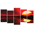 Shadow in the Water Giclee Print Beautiful Twilight Canvas Printing Decorative Sun Picture Canvas Painting for Home and Office