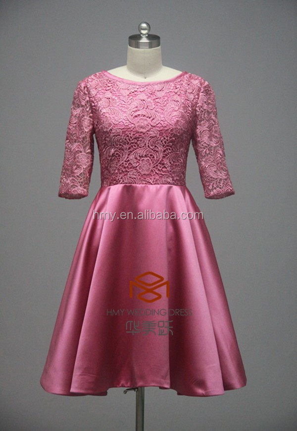 latest dress designs Tea Length Burgundy Mother Dress HMY-D339 Adults Age Group Evening / Formal Dresses Dress Type mother dress
