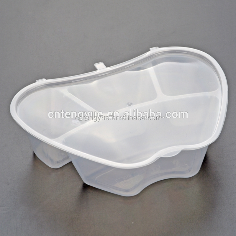 Disposable custom folding round fast food plastic take away chinese noodle disposable lunch food trays