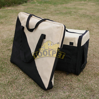 Portable Carrying Cream Color Soft Dog Cage New Pet House New Patterns Design Wholesale Price