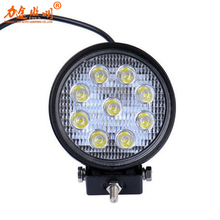 27W High Power 12V 24V LED Work Light Round LED Offroad Light Lamp Worklight for Off road Motorcycle Car Truck