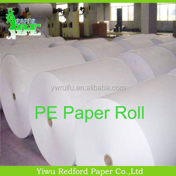 Good quality cup paper double sided pe coated paper <strong>roll</strong>