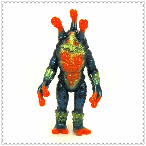 Japanese scary three eyes monsters plastic toys/oem japan child cartoon plastic toys/customized plastic toys manufacturer