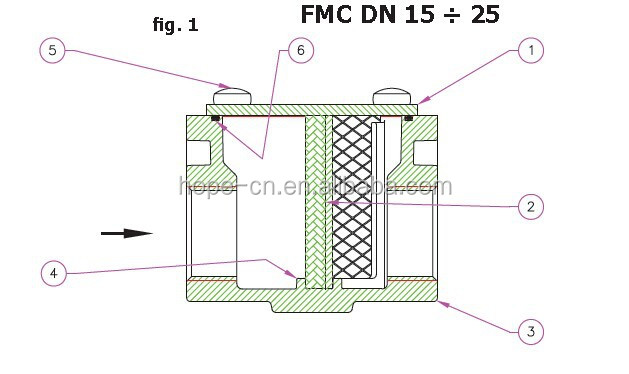 HPF DN50 nature gas filter
