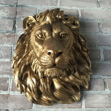 Hot sale bronze wall mounted metal wall lion head sculpture for home decoration