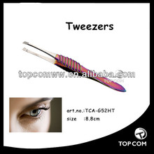 best design wholesale long handle hair removing straight tweezers