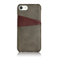 wholesale genuine leather mobile phone back cover , business portable Europe market cell case cover for apple iphone 7