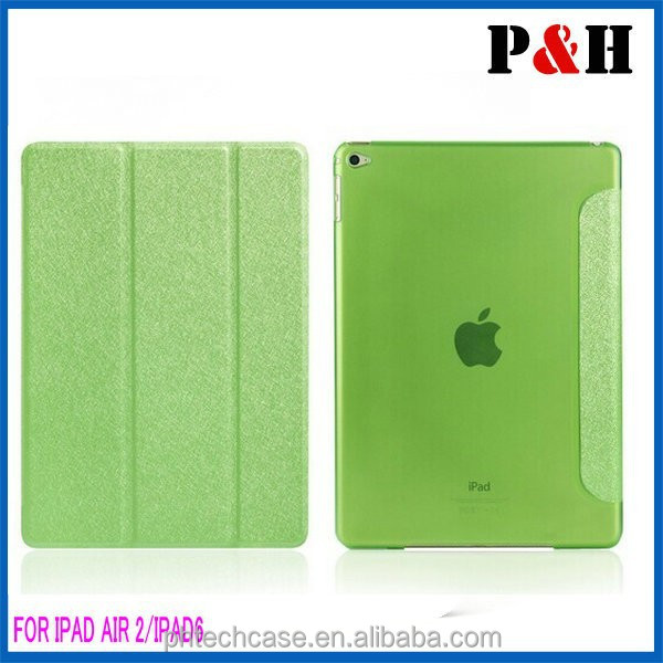 2015 PU Leather Multi-Folding Folio Wallet Case for IPAD AIR 2 /IPAD 6