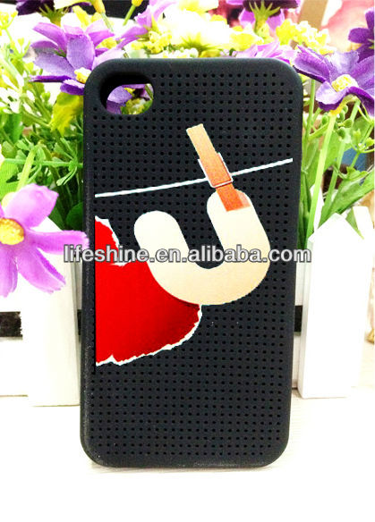 diy silicon phone case, for iphone 4 cross stitch silicone case
