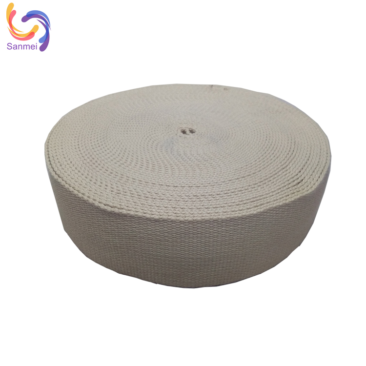100% cotton webbing for garment, for cloth, braided woven fabric cotton ribbon