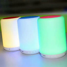Ebay Amazon hot sale rechargeable night light bluetooth speaker with led light for camping