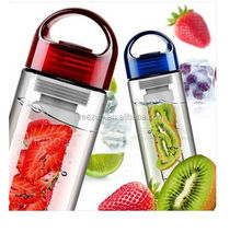 New products 2016 fruit water bottle / plastic drink sports bottle / water bottle fruit infuser