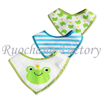 2016 OEM Service Supply Type Baby Bibs Product Type Printed Technics cotton baby bandana bibs