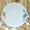 Wholesale fine royal new bone china white embossed ceramic steak plate with crown design
