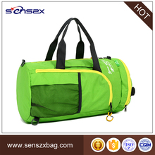 Fashionable high quality weekender travel duffel bag with shoe compartment