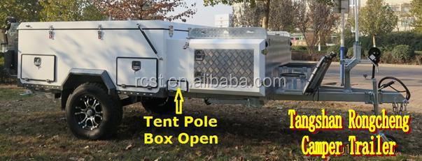 Super Deluxe Forward Fold Camper Trailer RC-CPT-01SD-black color