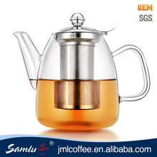 China wholesale borosilicate glass tea pot with filter and lid