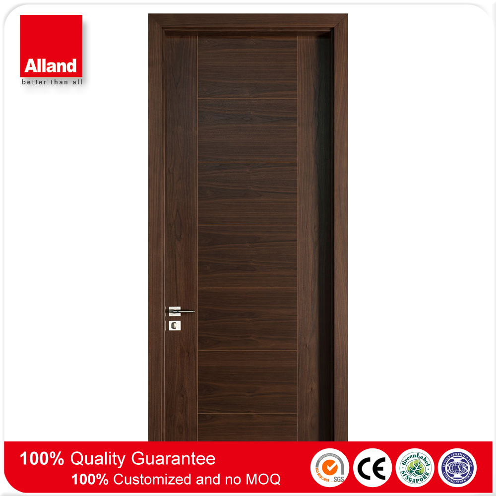 36'' x 80'' natural mahogany wood texture composite swing wooden door for hotel room