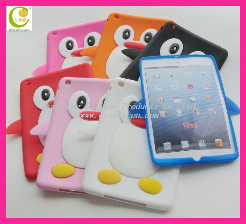 Fashion design soft cartoon shape silicone case for ipad 2 case,custom silicone case for ipad