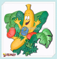 pvc fruit fridge magnet,Vegetable shaped fridge magnet