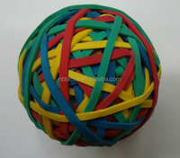 Hot selling colorful elastic rubber band bouncing ball