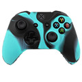 For Xbox One Blue Black Multi Mix Color Wireless Controller Gamepad Silicon Case Cover