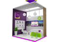 outlooking wooden exhibition display design, modular exhibition booth design system