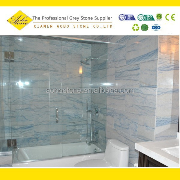 Bathroom blue marble floor tile sky blue marble buy blue for Blue sky bathroom tile floor decoration