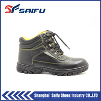 100% top grain leather material work man for safety shoe