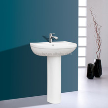 wash hand basin stand/ ceramic antique pedestal basins/ sanitary lavabo basin OLT-022013
