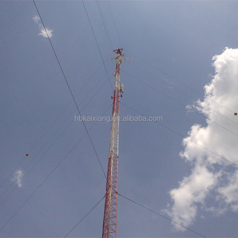 high quality galvanized guyed communication mast