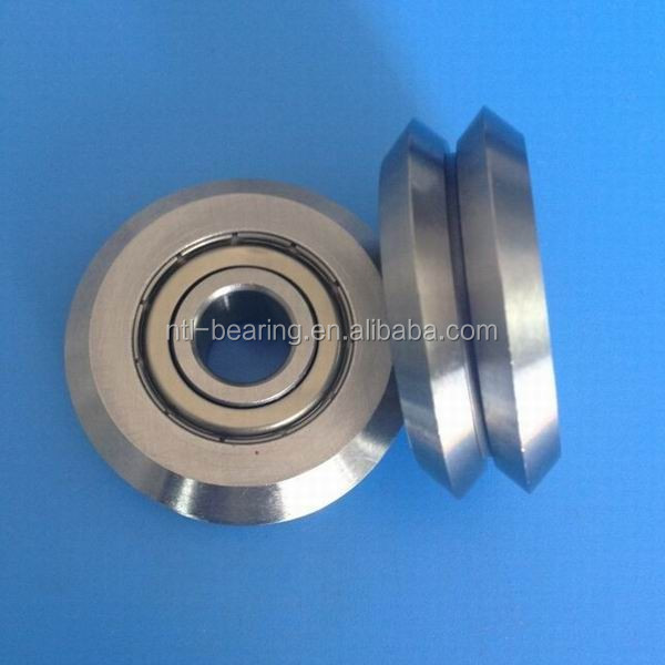 "RM2ZZ W2 3/8"" inch V Groove Guide Shielded Ball Bearing"