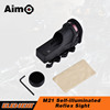 AIM-O tactical scopes M21 Self-illuminated reflex sight optic scopes with QD mount for hunting AO3045