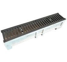 EN1433 polymer concrete drainage channel with cast grating