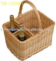 assorted cheap wicker ,willow wine glass basket