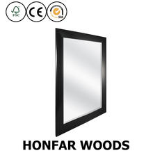 modern solid wood decorative wall mirror frame for hotel washing room
