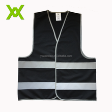 Colorful Custom Safety HiVis Black Polyester reflective vest for Promotion