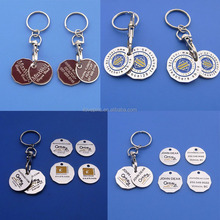 canadian loonie and quarter grocery cart key chain, shopping cart coin