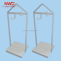MDF melaminted clothes double side metal rack floor display stand