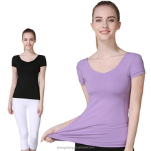 Stylish Custom Quick Dry Yoga T-shirts for Women/ Comfortable Women T-Shirt /Women Sports T-Shirt With Locking Stitch T1703027