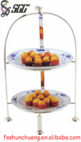 Stainless Steel Two Tiers Cake/Pastry/Bread/Food Stand