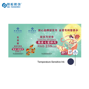 Custom printing paper security flight event concert movie tickets with Temperature Sensitive Ink Anti counterfeiting Technology
