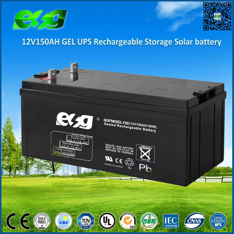 Deep Cycle Solar Energy Storage 12V 150AH UPS Battery with Free Maintenance