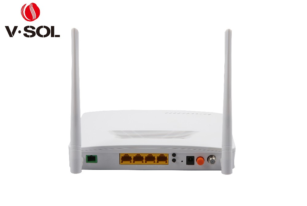 Convenient GPON ONT 4GE+WIFI+RF(CATV) fiber optical network