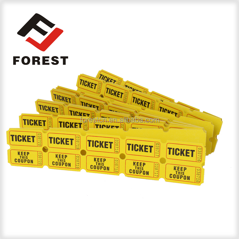 High quality amusement machine lottery raffle tickets